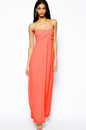 pantone-peach-echo-bridesmaid-dress