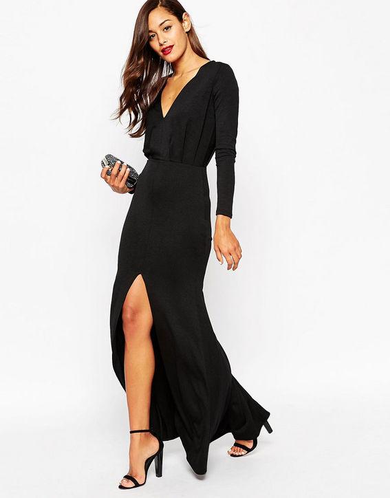 asos-tall-black-long-dress-fishtail-h724